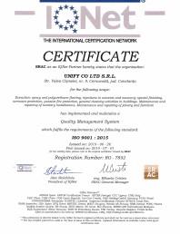 Certificat - IQNet ISO 9001-2015