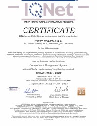 Certificat - IQNet OHSAS 18001-2007