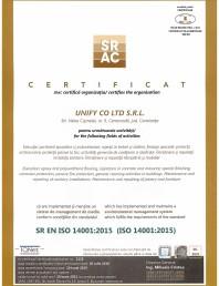 Certificat SRAC- ISO 14001:2015