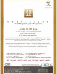 Certificat SRAC- ISO 18001 - 2008