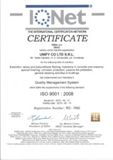 Certificat - IQNet ISO 9001-2008 UNIFY