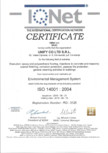 Certificat - IQNet ISO 14001-2004 UNIFY
