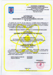 Autorizatie pentru sistemul de management al calitatii in domeniul nuclear  UNIFY