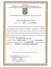 Pardoseli epoxidice artistice - Autorizatie ignifugare a materialelor combustibile
