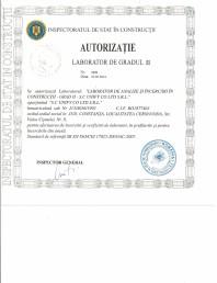 Autorizatie laborator de gradul al II lea