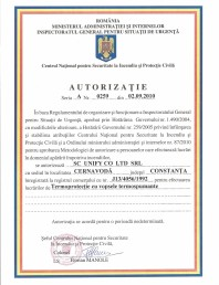 Autorizatie termoprotectie cu vopsele termospumate