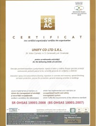 Certificat SR  OHSAS 18001-2008