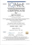 Certificat - IQNet OHSAS 18001-2007 UNIFY