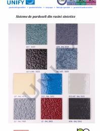 Paletar pentru sisteme de pardoseli din rasini sintetice