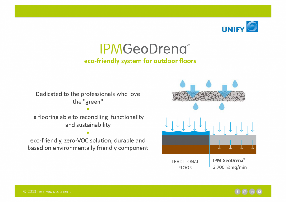 Pagina 2 - Sistemul Urban Design IPM GeoDrena UNIFY Catalog, brosura Engleza RESIDENTIAL AREAS  OPEN...