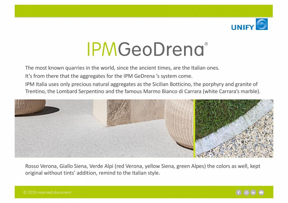 Pagina 3 - Sistemul Urban Design IPM GeoDrena UNIFY Catalog, brosura Engleza ved document  MILANO...