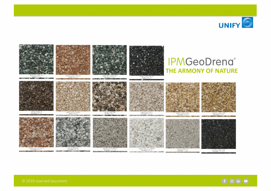Pagina 4 - Sistemul Urban Design IPM GeoDrena UNIFY Catalog, brosura Engleza