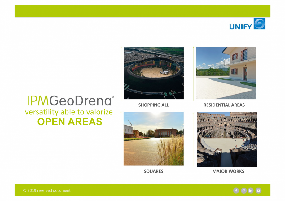 Pagina 5 - Sistemul Urban Design IPM GeoDrena UNIFY Catalog, brosura Engleza