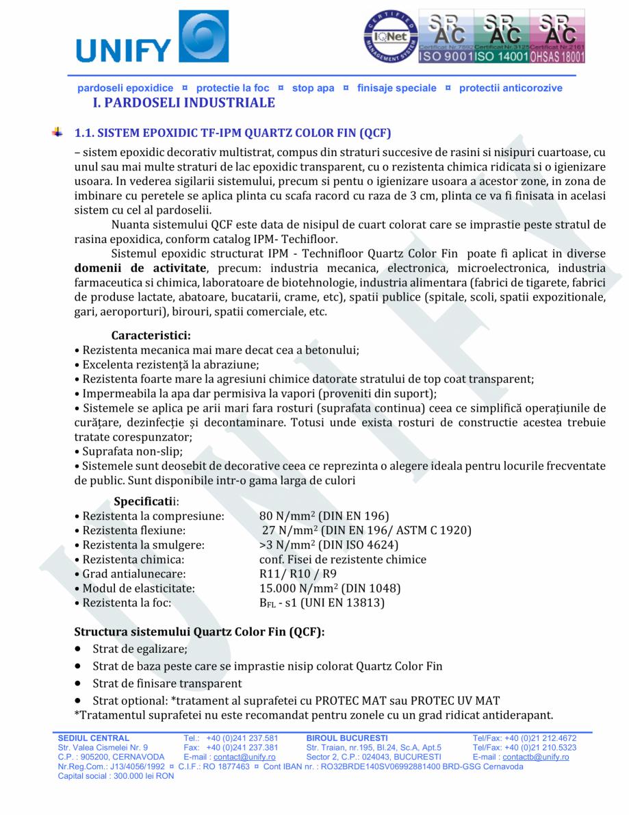 Pagina 2 - Pardoseli structurate pe baza de rasini sintetice UNIFY Fisa tehnica Romana manentanoi...