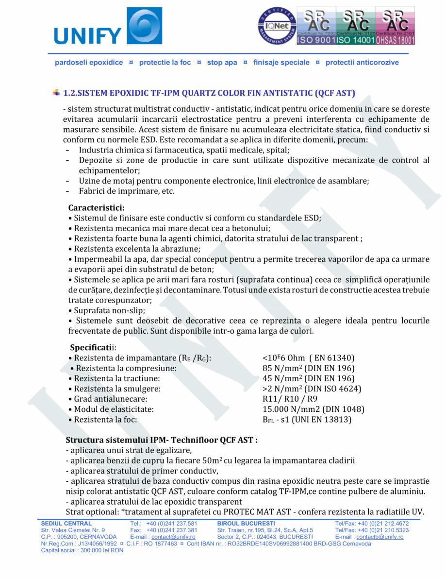Pagina 3 - Pardoseli structurate pe baza de rasini sintetice UNIFY Fisa tehnica Romana urate pe...