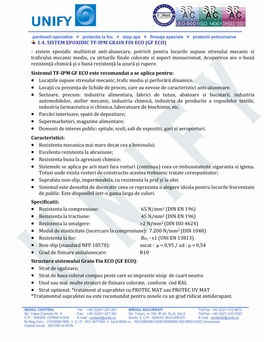 Pagina 5 - Pardoseli structurate pe baza de rasini sintetice UNIFY Fisa tehnica Romana poxidic...