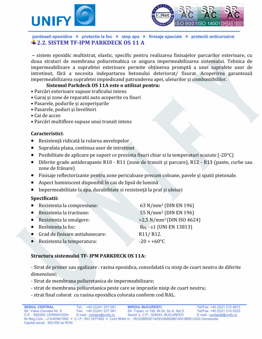 Pagina 8 - Pardoseli structurate pe baza de rasini sintetice UNIFY Fisa tehnica Romana icasi...