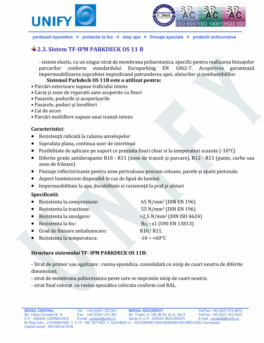 Pagina 9 - Pardoseli structurate pe baza de rasini sintetice UNIFY Fisa tehnica Romana rative ceea...