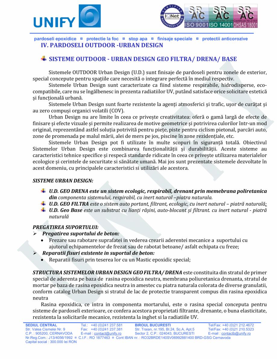 Pagina 11 - Pardoseli structurate pe baza de rasini sintetice UNIFY Fisa tehnica Romana rade...