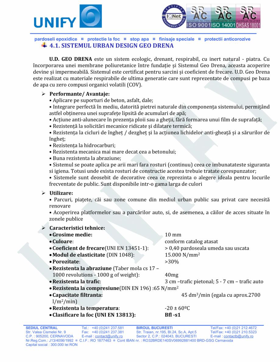 Pagina 12 - Pardoseli structurate pe baza de rasini sintetice UNIFY Fisa tehnica Romana sebitde...