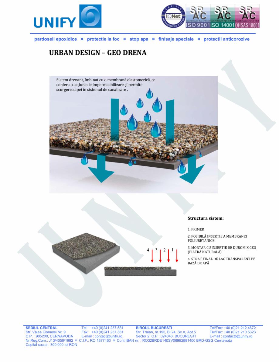 Pagina 13 - Pardoseli structurate pe baza de rasini sintetice UNIFY Fisa tehnica Romana ridicat...