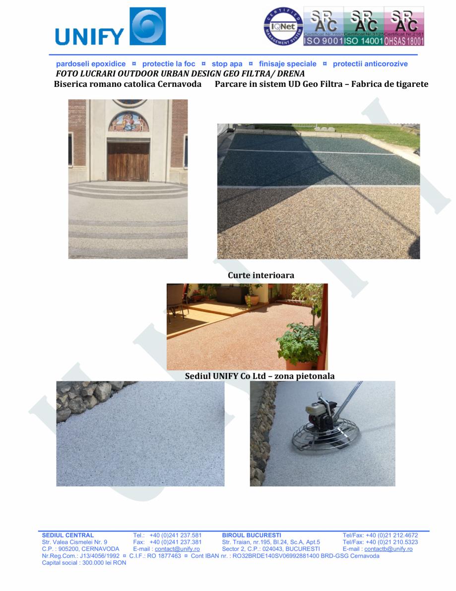 Pagina 18 - Pardoseli structurate pe baza de rasini sintetice UNIFY Fisa tehnica Romana N/mm2(DIN...