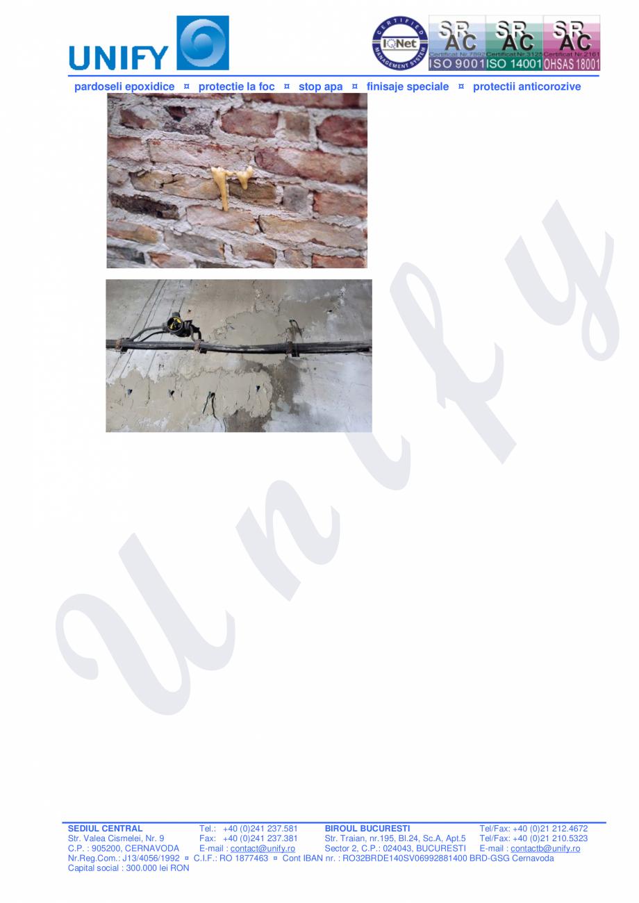 Pagina 6 - Injectii cu spuma si rasina poliuretanica WEBAC Catalog, brosura Romana il :...