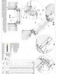 Fereastra de mansarda cu articulare mediana, electrica