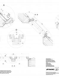 Fereastra de mansarda cu articulare mediana pentru acoperisuri inclinate.Suport grinda