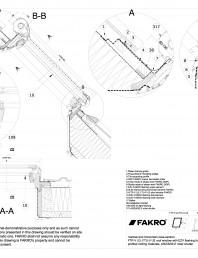 Fereastra de mansarda cu articulare mediana pentru acoperisuri inclinate cu racord EZV Role de inchidere ARZ