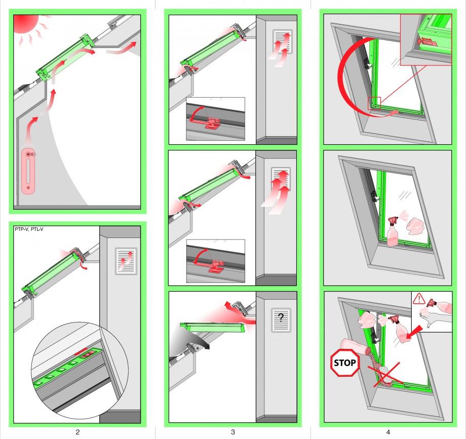 Pagina 2 - Ferestre de mansarda cu articulare mediana FAKRO PTP-V Instructiuni montaj, utilizare...