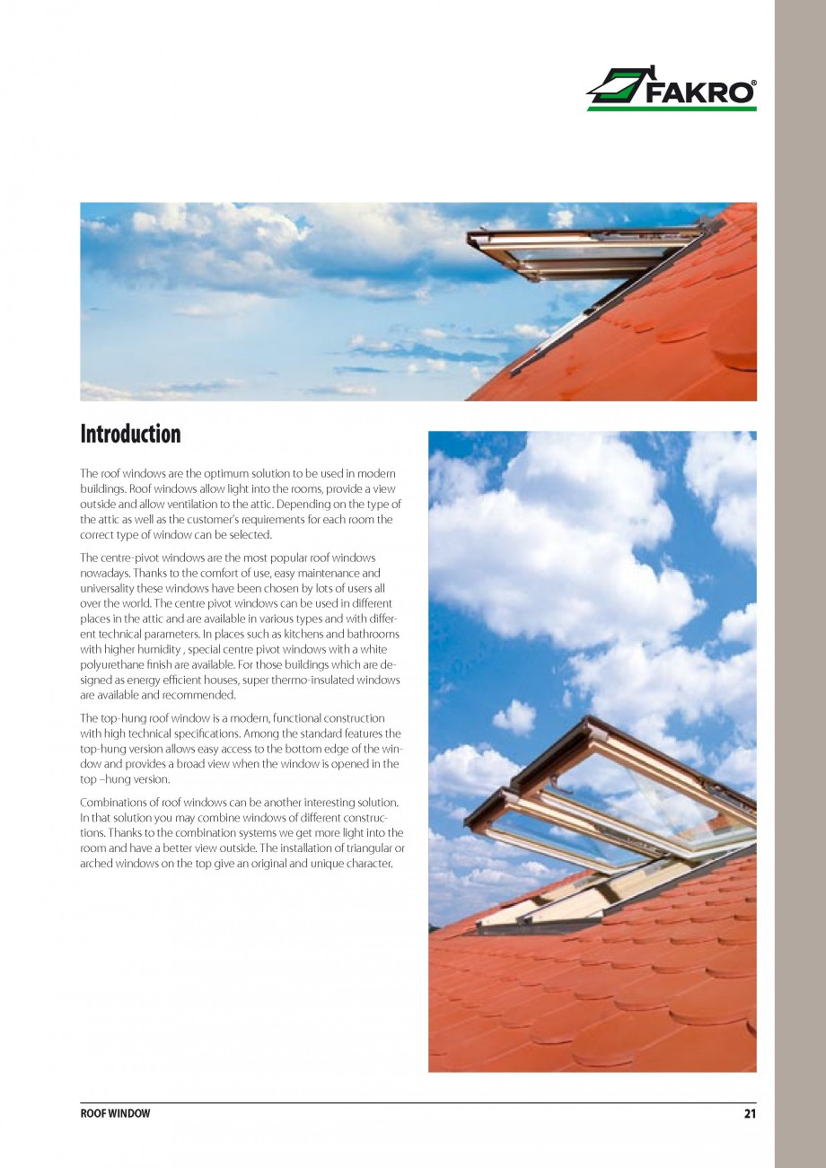 Pagina 14 - Ferestre de mansarda FAKRO ATIC, FGH-V Galeria, FTU-V Z-WAVE, FTP-V Z-WAVE, FTP R1,...