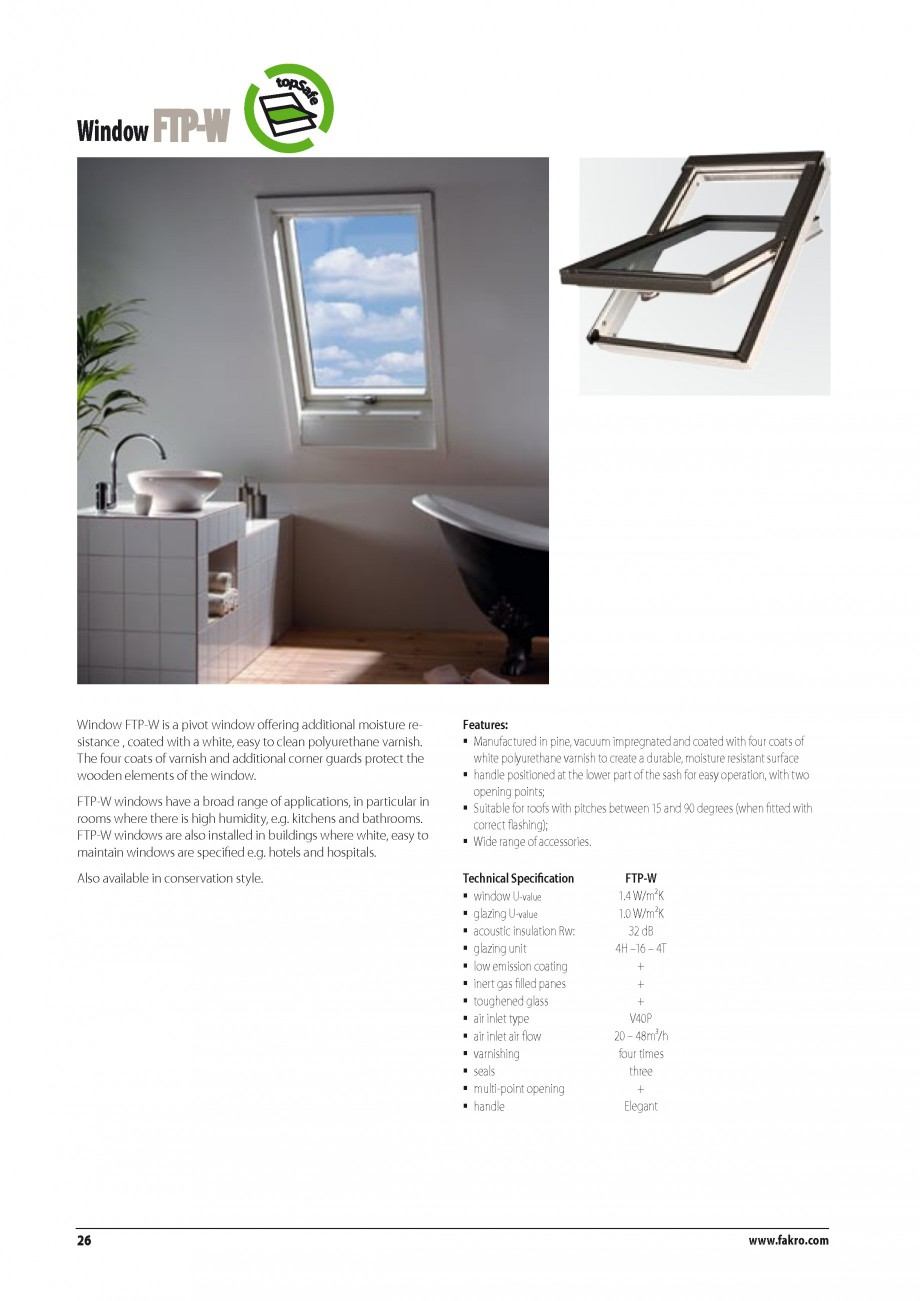 Pagina 19 - Ferestre de mansarda FAKRO BDR/ BDL, FGH-V Galeria, FTU-V Z-WAVE, FTP-V Z-WAVE, FTP-V R1...