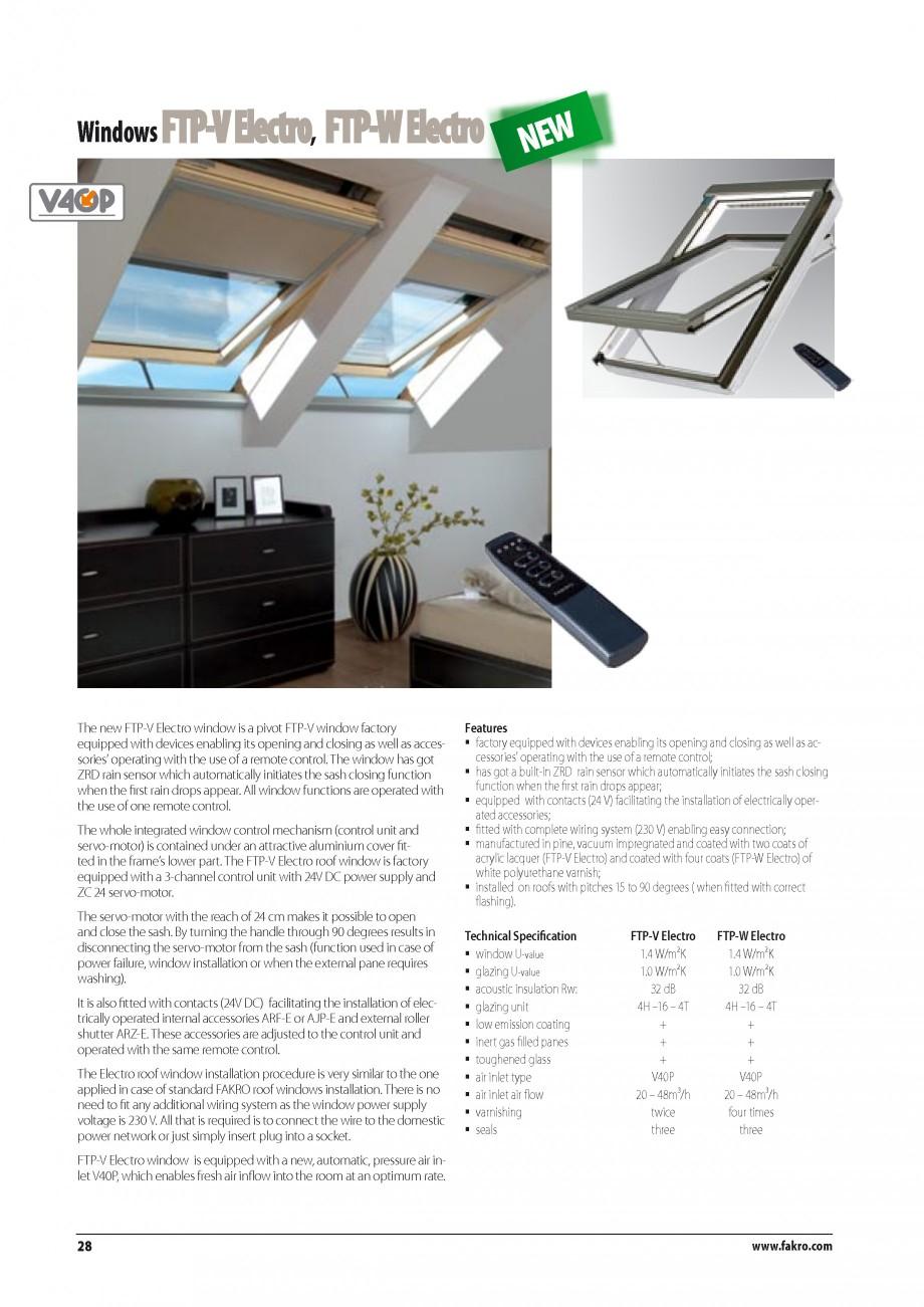 Pagina 21 - Ferestre de mansarda FAKRO BDR/ BDL, FGH-V Galeria, FTU-V Z-WAVE, FTP-V Z-WAVE, FTP-V R1...