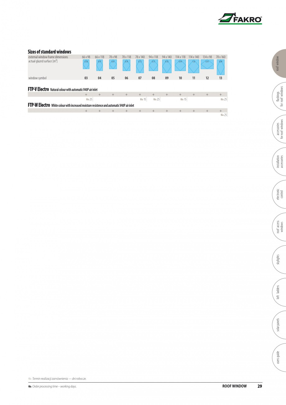 Pagina 22 - Ferestre de mansarda FAKRO ATIC, FGH-V Galeria, FTU-V Z-WAVE, FTP-V Z-WAVE, FTP R1,...