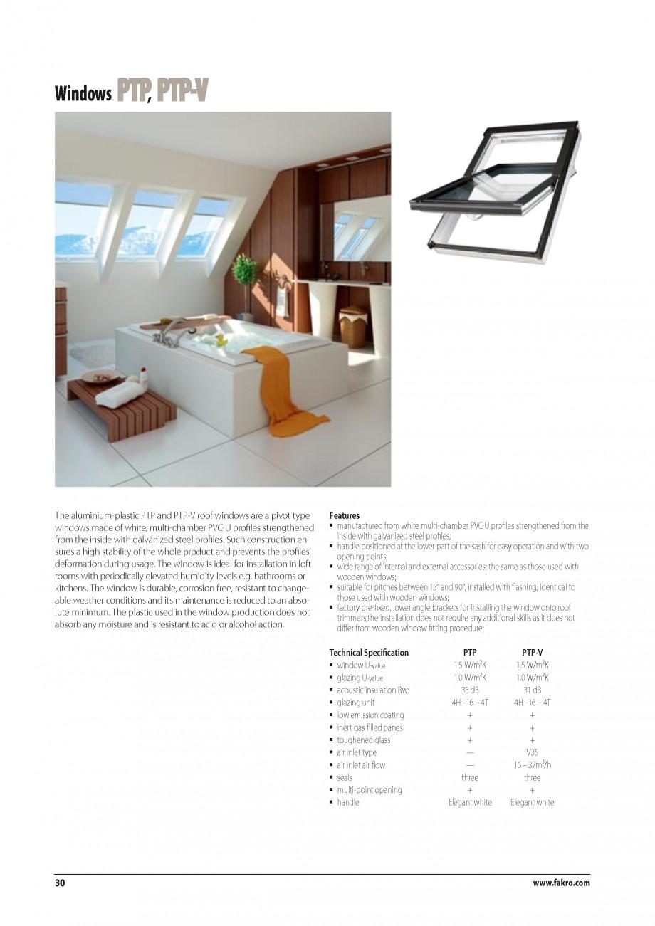 Pagina 23 - Ferestre de mansarda FAKRO BDR/ BDL, FGH-V Galeria, FTU-V Z-WAVE, FTP-V Z-WAVE, FTP-V R1...