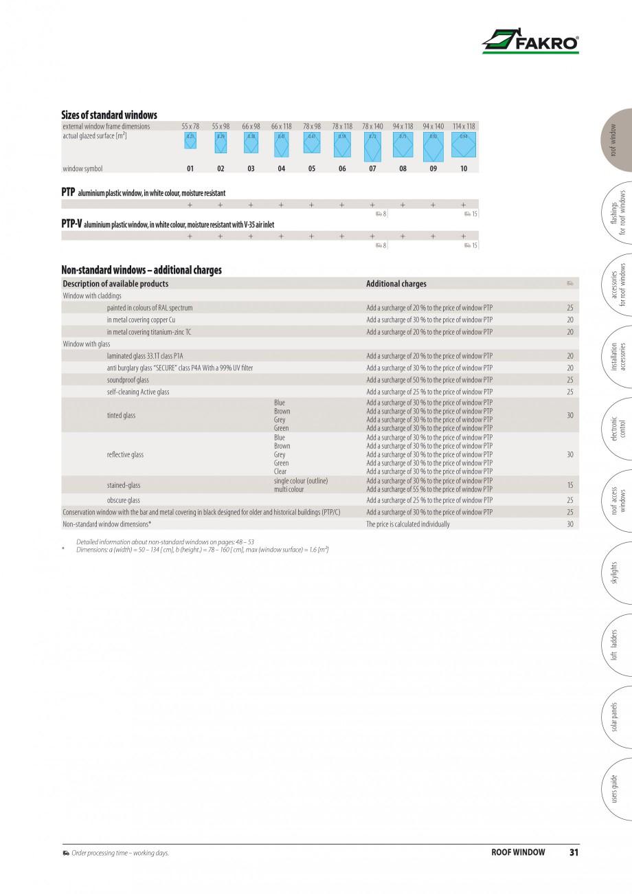 Pagina 24 - Ferestre de mansarda FAKRO ATIC, FGH-V Galeria, FTU-V Z-WAVE, FTP-V Z-WAVE, FTP R1,...