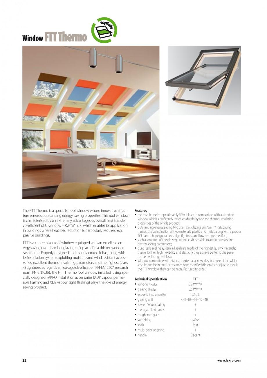 Pagina 25 - Ferestre de mansarda FAKRO BDR/ BDL, FGH-V Galeria, FTU-V Z-WAVE, FTP-V Z-WAVE, FTP-V R1...