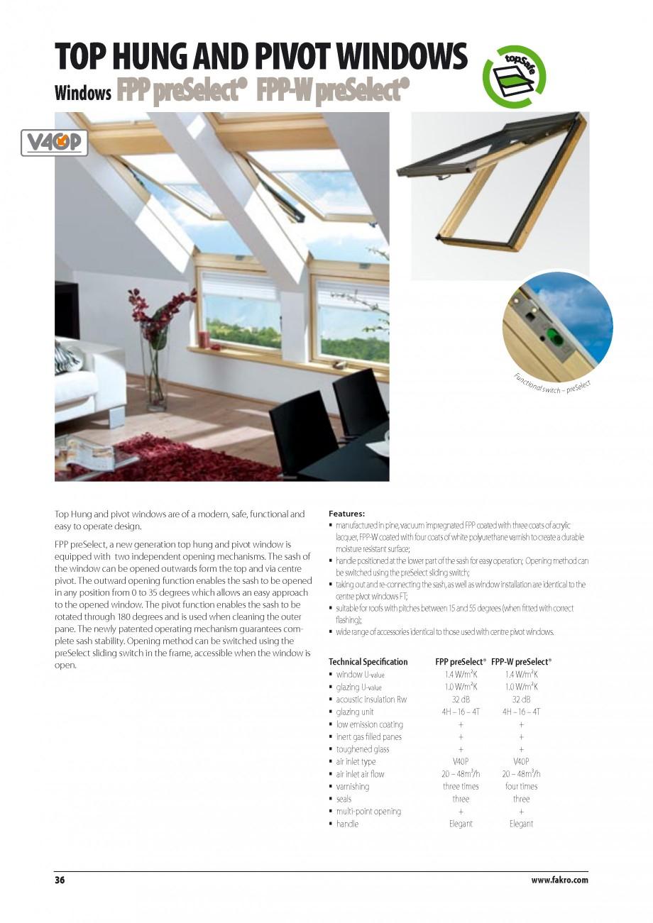 Pagina 29 - Ferestre de mansarda FAKRO BDR/ BDL, FGH-V Galeria, FTU-V Z-WAVE, FTP-V Z-WAVE, FTP-V R1...