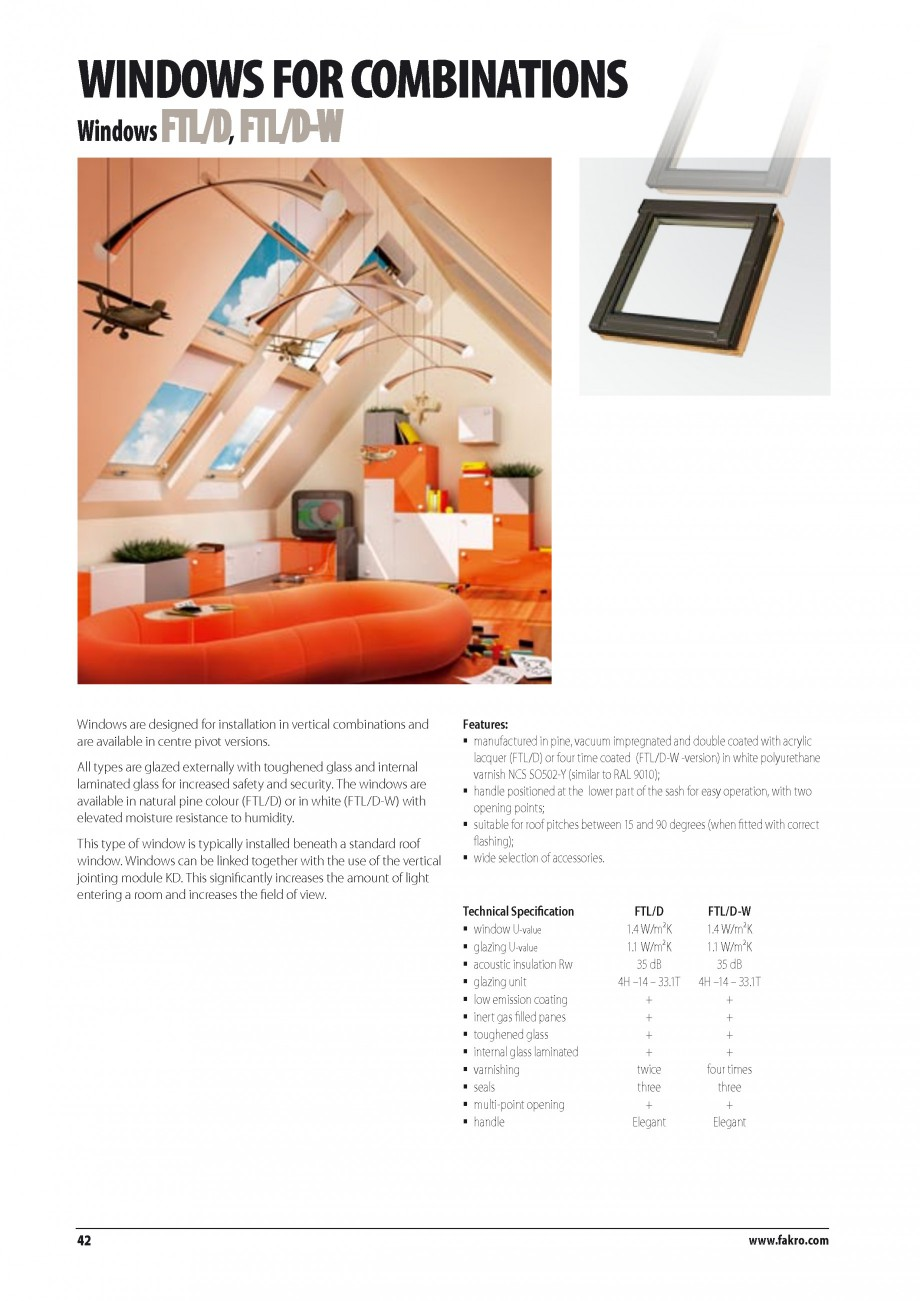 Pagina 35 - Ferestre de mansarda FAKRO BDR/ BDL, FGH-V Galeria, FTU-V Z-WAVE, FTP-V Z-WAVE, FTP-V R1...