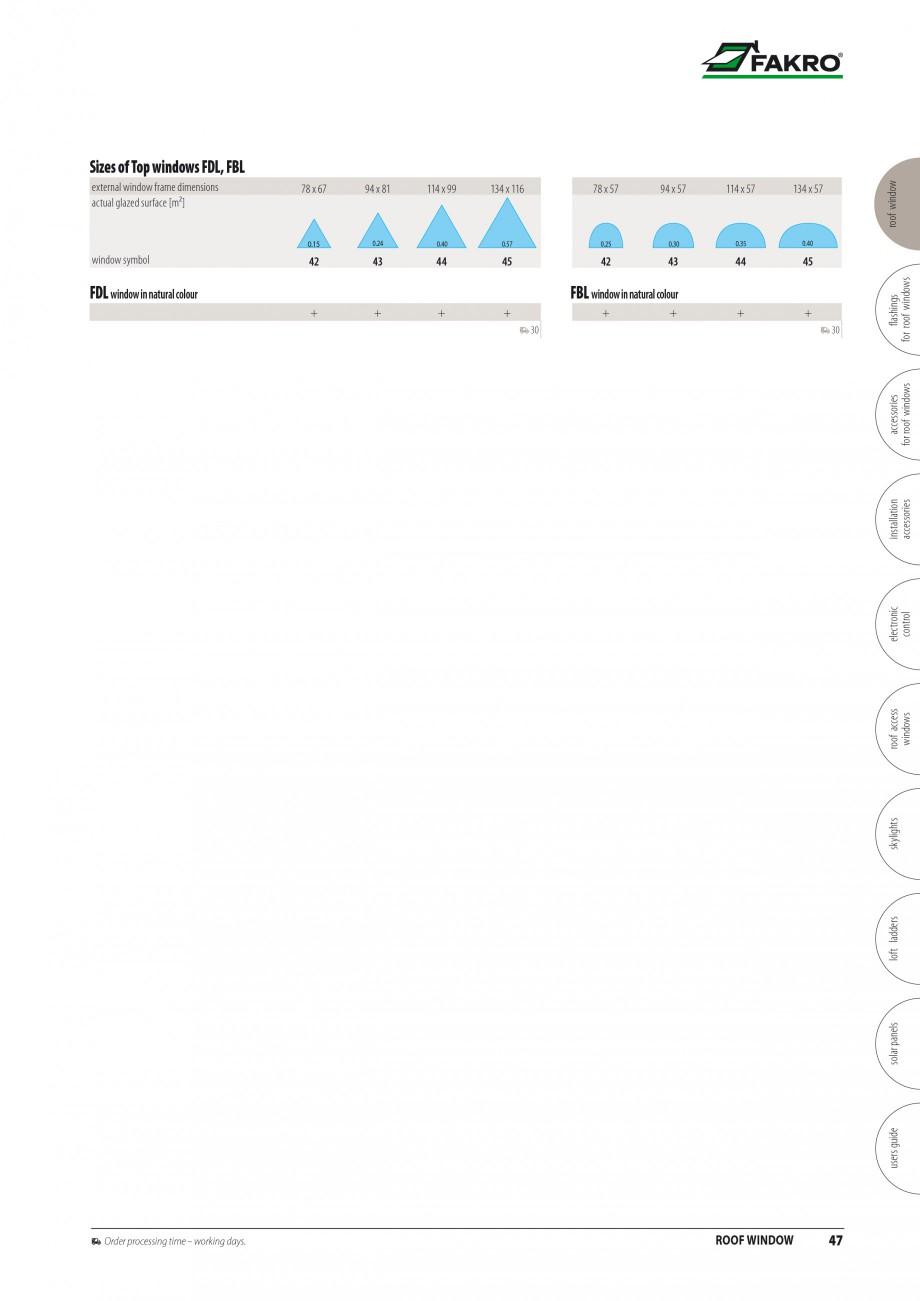 Pagina 40 - Ferestre de mansarda FAKRO BDR/ BDL, FGH-V Galeria, FTU-V Z-WAVE, FTP-V Z-WAVE, FTP-V R1...
