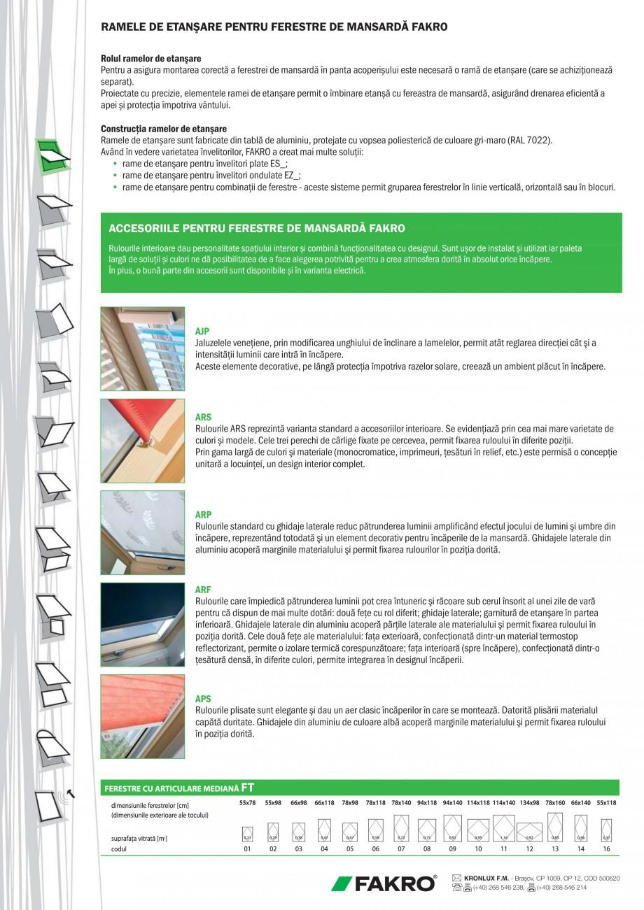 Pagina 2 - Ferestre de mansarda standard FAKRO FTS-V U2 Fisa tehnica Romana strei, (asigură şi...