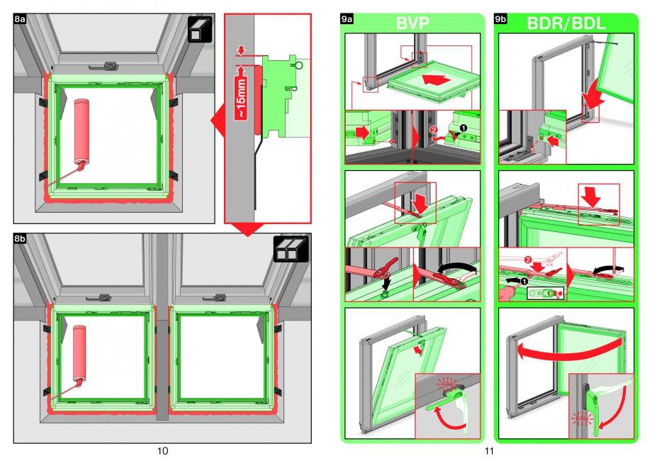 Pagina 6 - Ferestre atic FAKRO Instructiuni montaj, utilizare