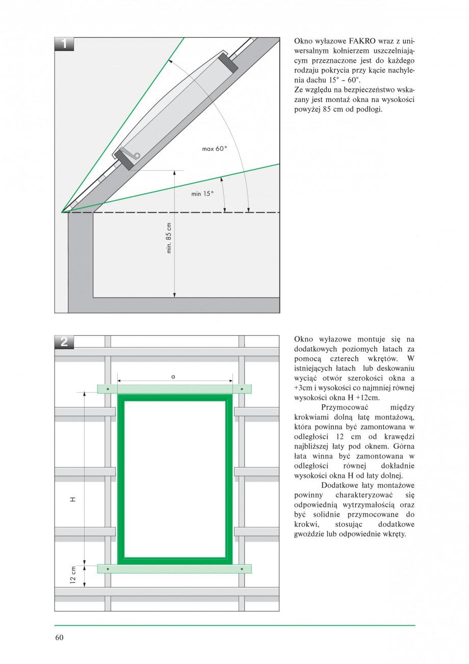 Pagina 2 - Ferestre de acces pe acoperis FAKRO WSZ / WSS Instructiuni montaj, utilizare Poloneza ie ...
