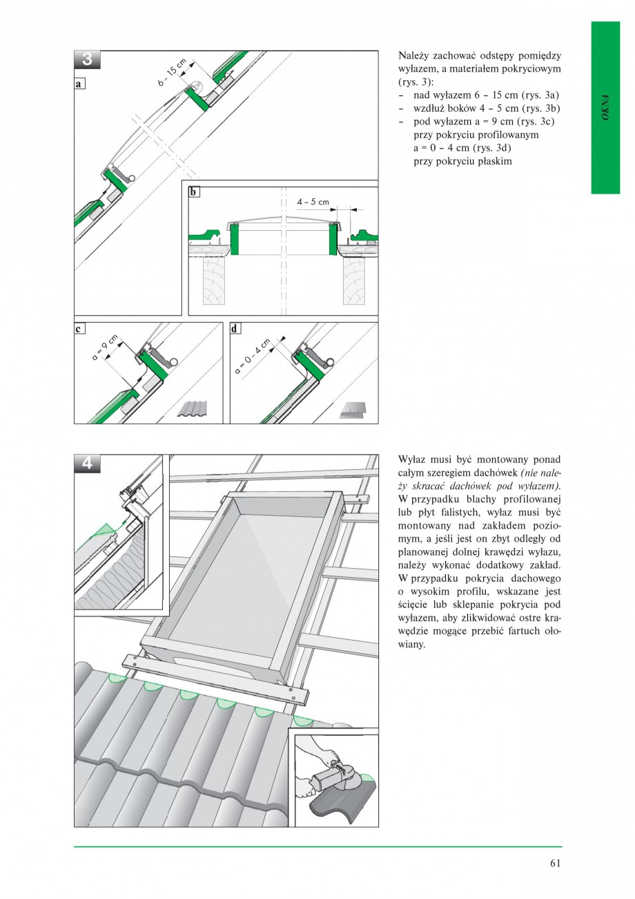 Pagina 3 - Ferestre de acces pe acoperis FAKRO WSZ / WSS Instructiuni montaj, utilizare Poloneza � w...