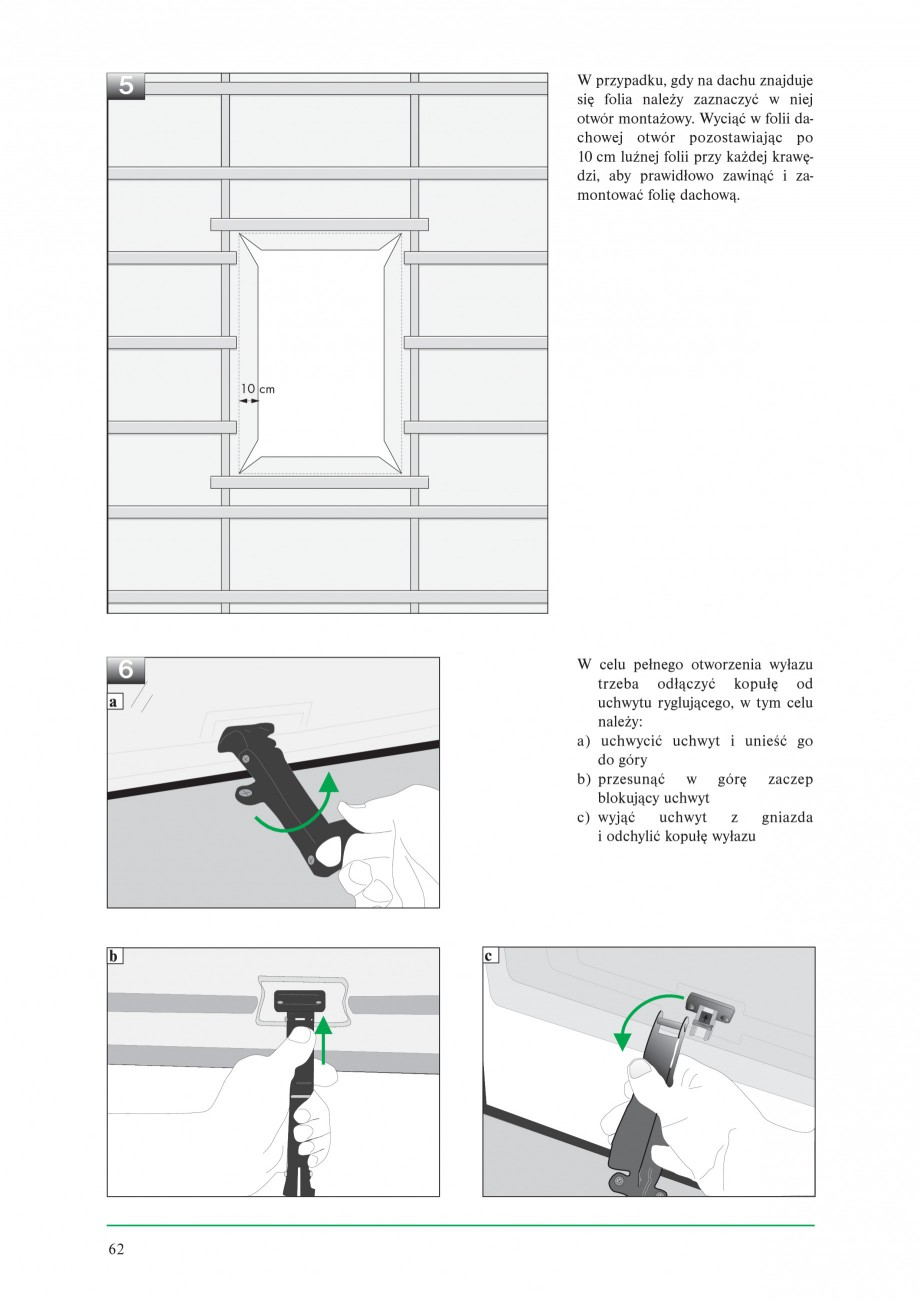 Pagina 4 - Ferestre de acces pe acoperis FAKRO WSZ / WSS Instructiuni montaj, utilizare Poloneza 0 a...