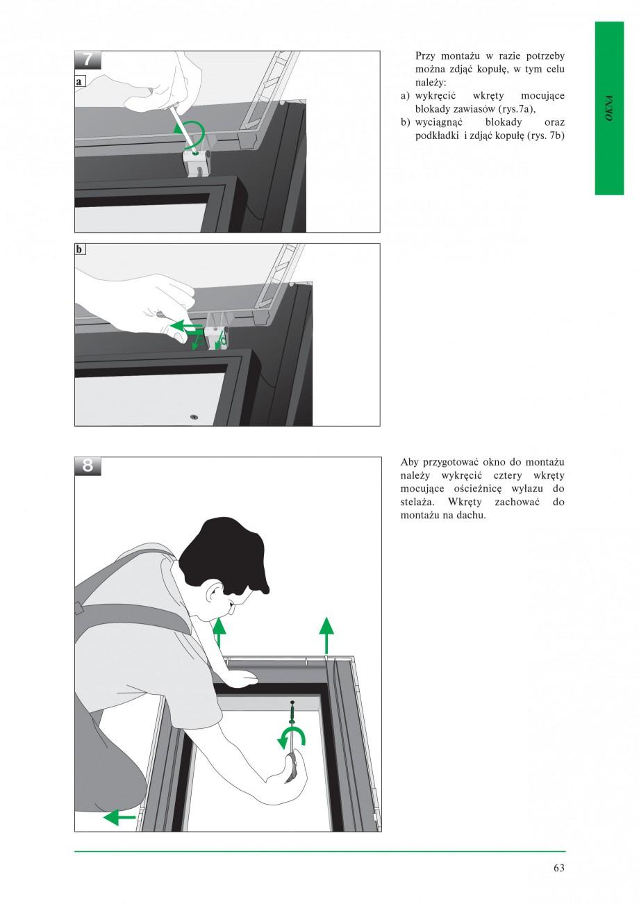 Pagina 5 - Ferestre de acces pe acoperis FAKRO WSZ / WSS Instructiuni montaj, utilizare Poloneza go,...