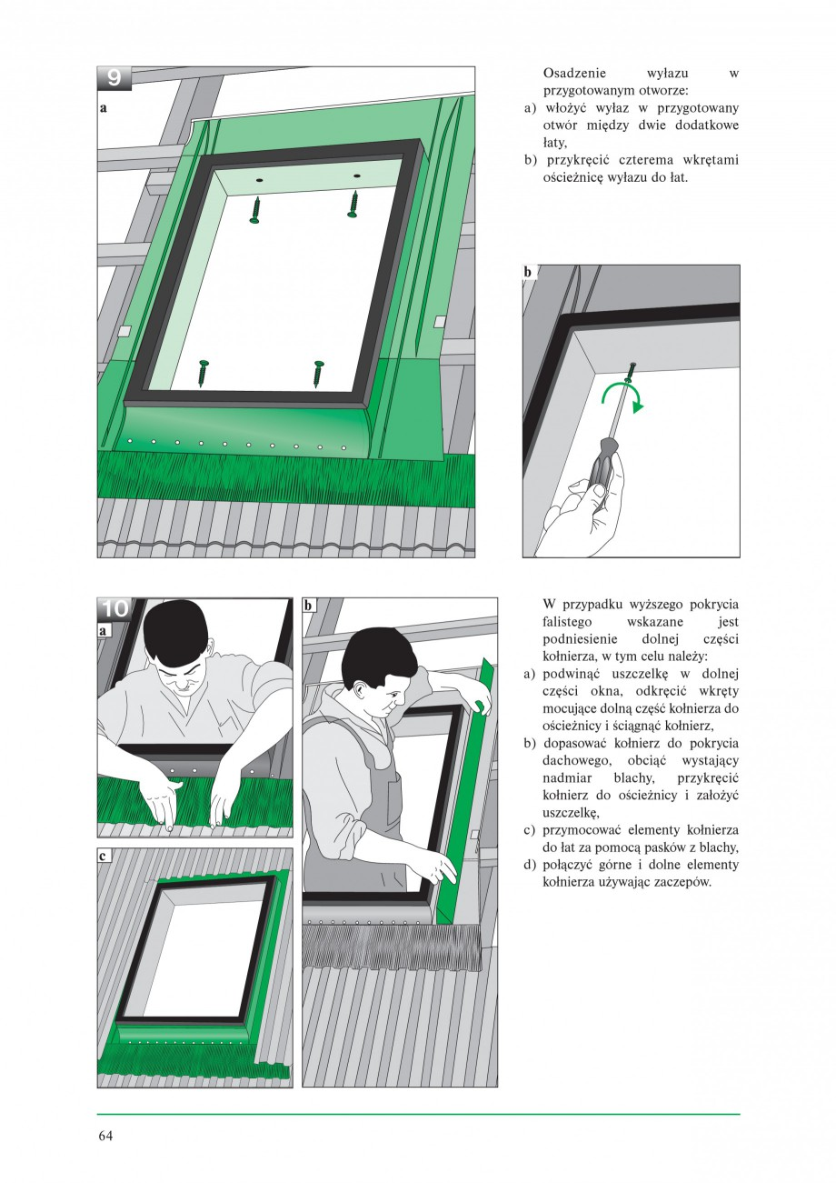Pagina 6 - Ferestre de acces pe acoperis FAKRO WSZ / WSS Instructiuni montaj, utilizare Poloneza