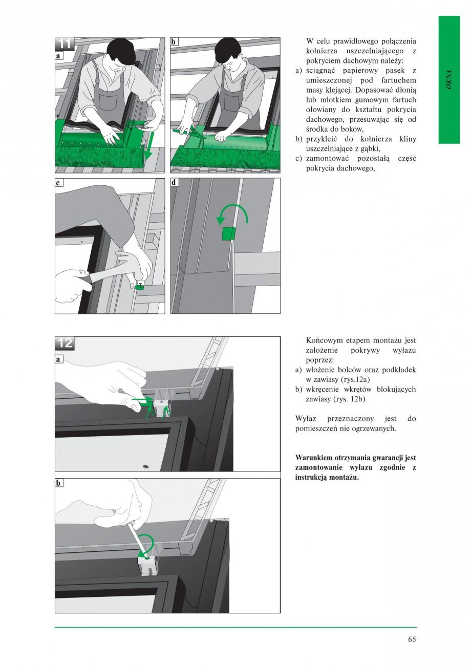 Pagina 7 - Ferestre de acces pe acoperis FAKRO WSZ / WSS Instructiuni montaj, utilizare Poloneza