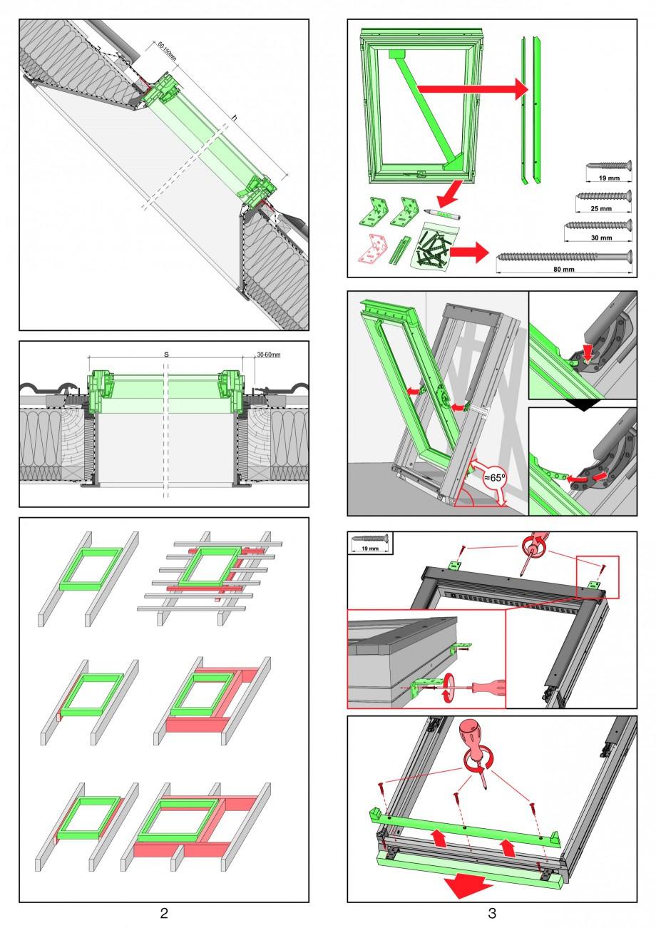 Pagina 2 - Ferestre de mansarda cu articulare mediana FAKRO PTP-V Instructiuni montaj, utilizare